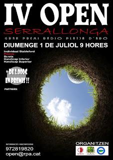 Open Serrallonga al P&P Platja D'Aro