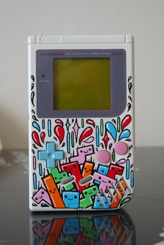 Game Boy Tetris réalisé au posca.