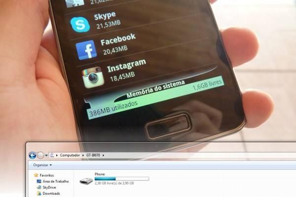 Galaxy S II Lite tem 8 GB de memória interna