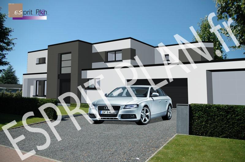 Esprit plan for Architecture maison en belgique
