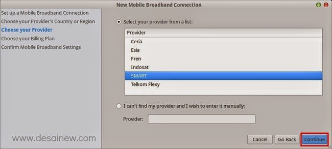 Choose Provider, Smartfren