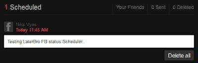 How to schedule facebook Status update in Advance