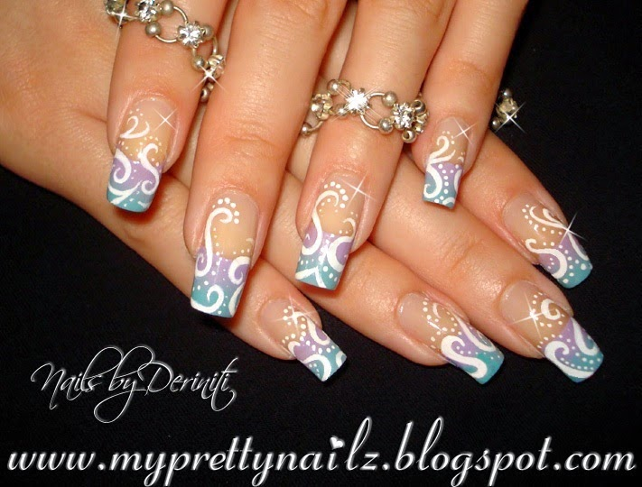Acrylic french tip nail designs acrylic french tip nail designs acrylic nails white french tip my way youtube prinsesfo Images