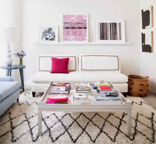 tapete centralizado na sala