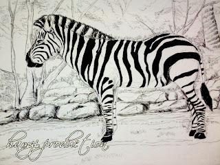 Lukisan pertama ni aq tak ingat bila tarikhnya..... tema binatang