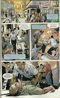 Cena da história em quadrinhos O estigma do Superman