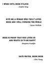 Free downloadable artwork for famous quotes about beer