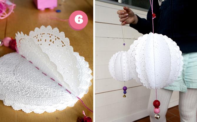 DIY Paper Doily Decorations