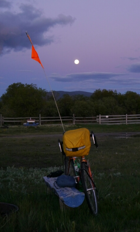 moon and bike