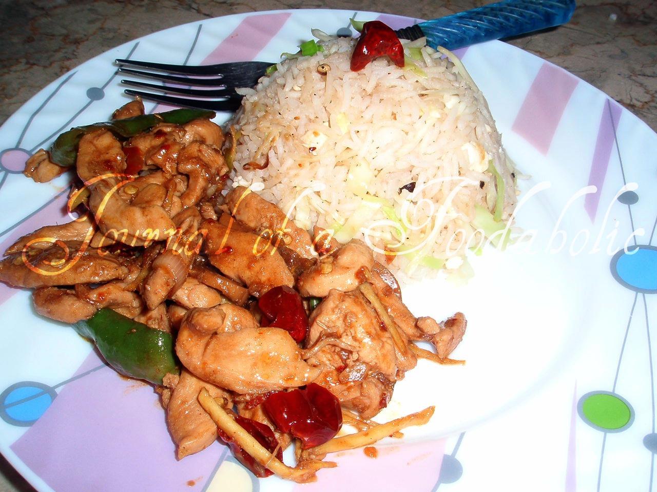 Journal of a foodaholic thai chicken chili dry garlic fried rice forumfinder Choice Image