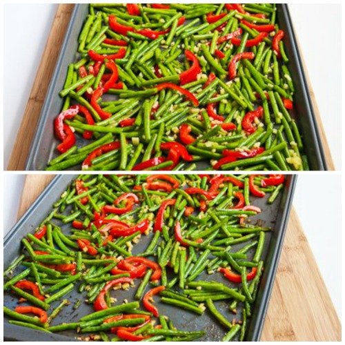 red bell pepper chutney sauce roasted green beans and red bell pepper ...