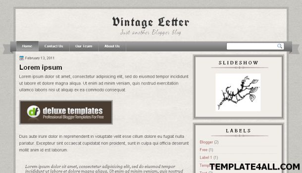 Free Gray Textured Vintage Blogger Template