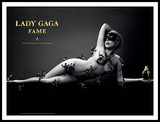 Lady Gaga hot black mask Fame ad black & white HD HQ photo