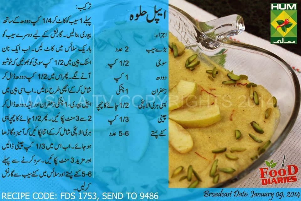 precipice in urdu Apple Halwa