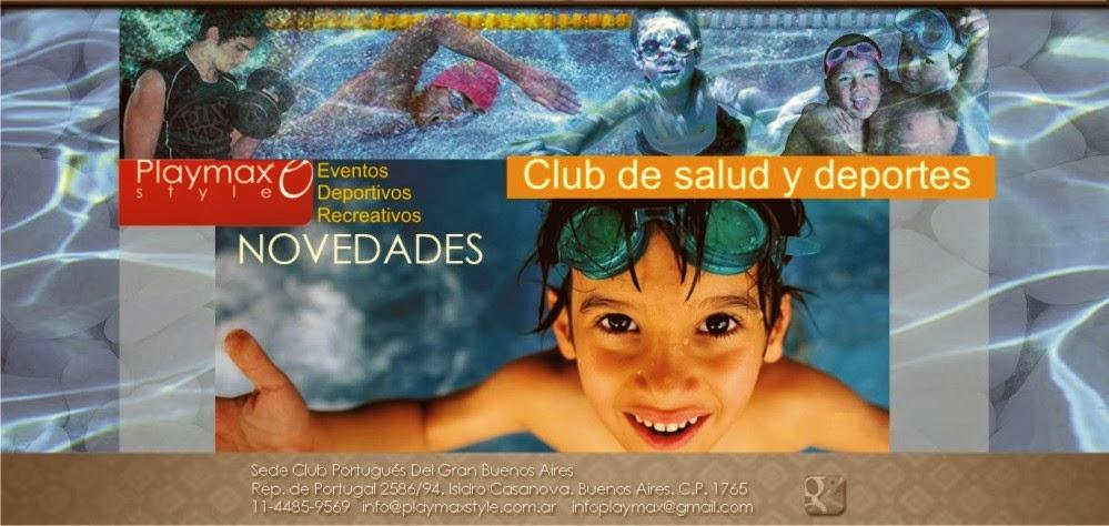 Playmax Style. Club de Salud y Deportes.  4485-9569 Rep. de Portugal 2586. I. Casanova