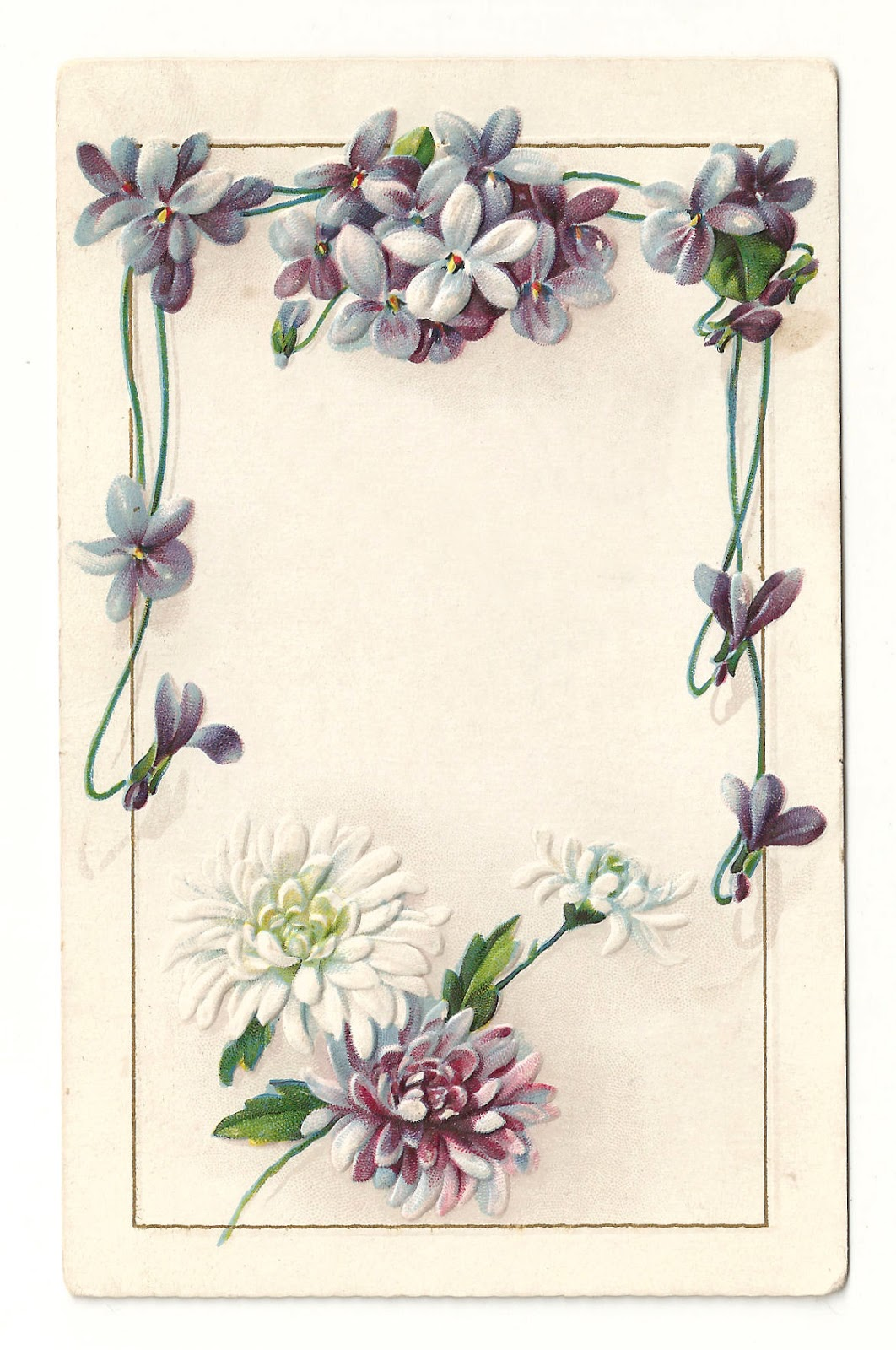 antique images free printable flower frame vintage
