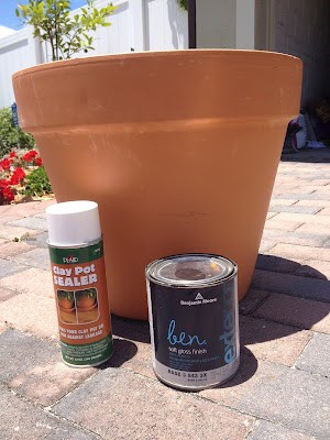 DIY clay pots for flowers