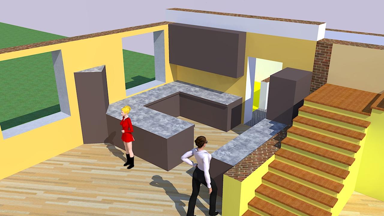 Projekt einfamilienhaus: zimmeraufteilung xs