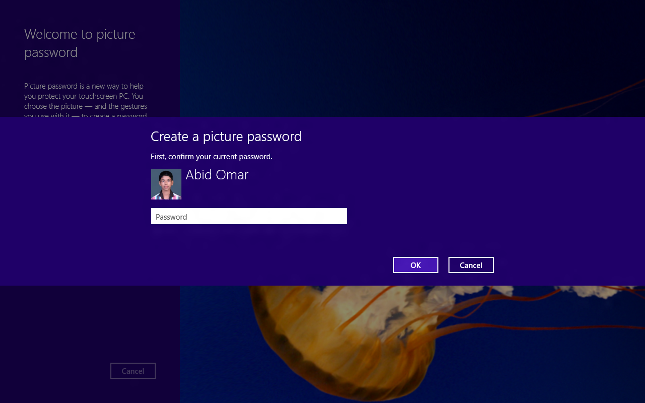 2 Create a Picture password on Windows 8