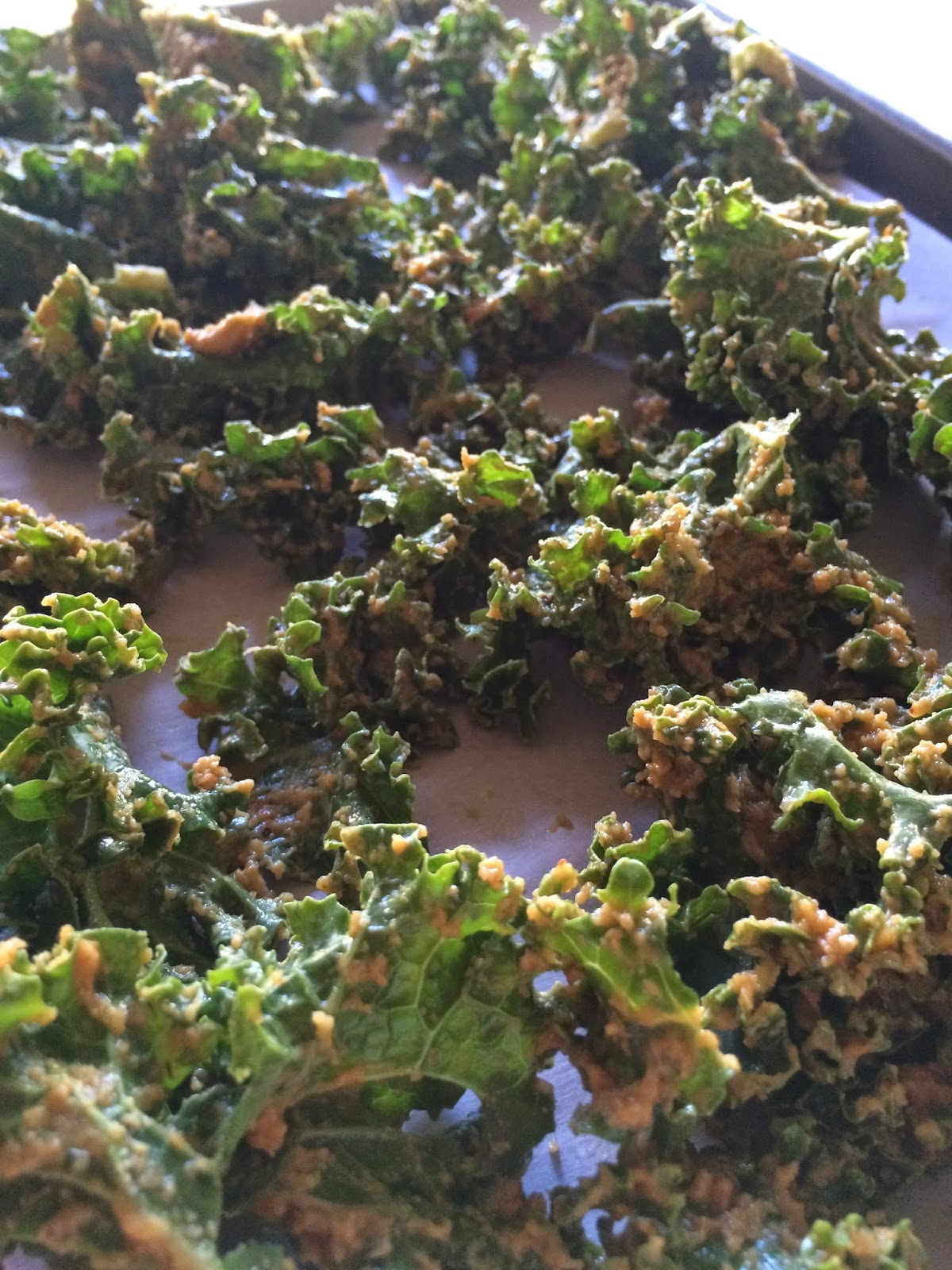 vegan cheese covered kale