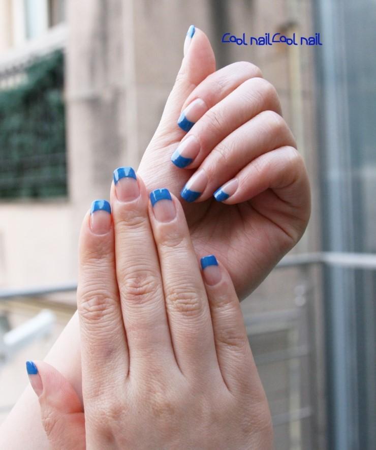 MagazinePAPA: Blue french nail, gel nail, summer color, vivid blue ...