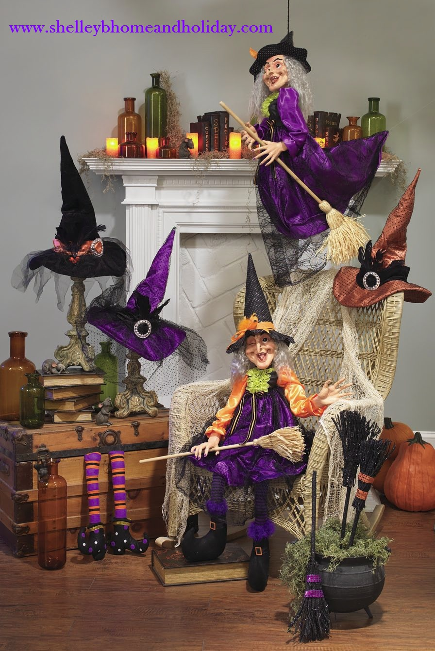 Shelley b decor and more raz 2012 halloween for 3 witches halloween decoration