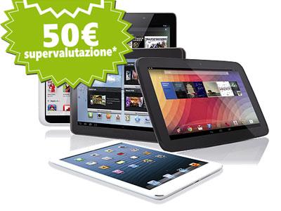 Mediacom vi rimborsa in contanti 50 euro se portate indietro il vostro vecchio tablet usato
