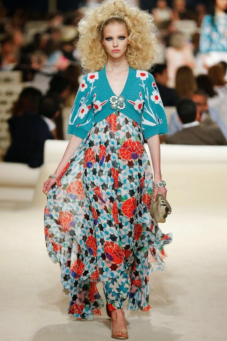 Tendências moda primavera-verão 2015 padrão flores