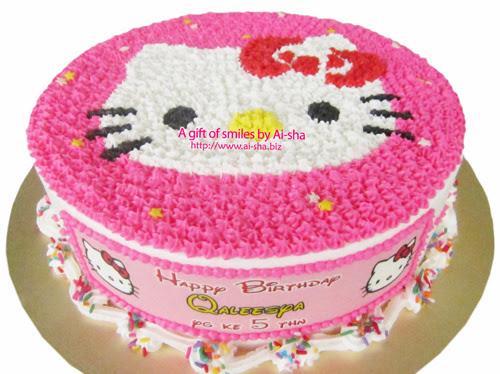 Birthday Cake Hello Kitty Buttercream Ai-sha Puchong Jaya