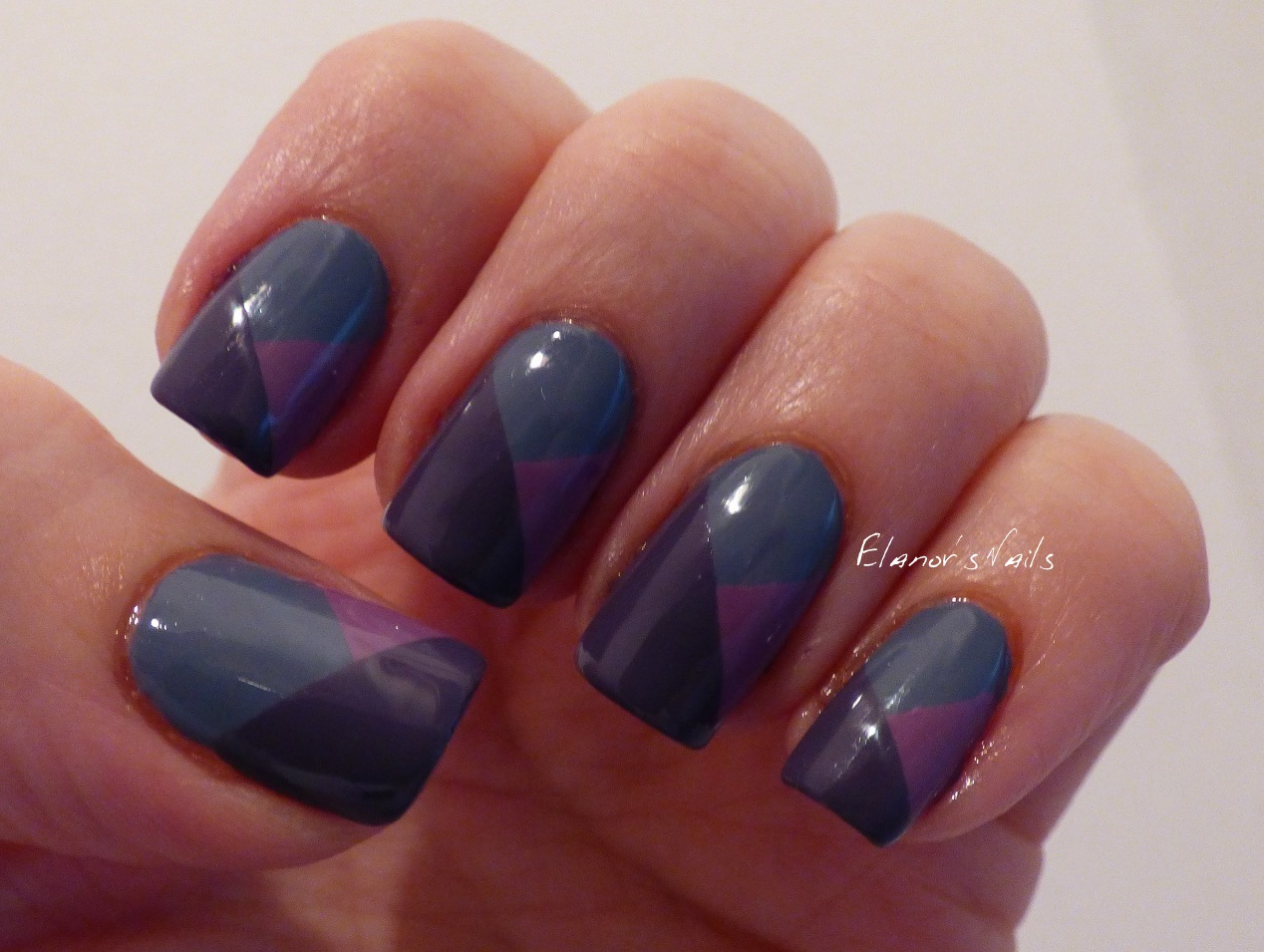 Elanors nails september 2015 i really like how these colours go together so i also used them for a couple of nail art looks first off i used sellotape to make a simple blocked tape prinsesfo Gallery
