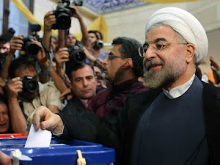 Moderate cleric Hassan Rowhani won Iran's presidential elections