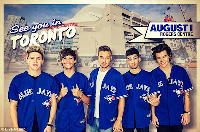 One Direction Toronto Jersey - Blue Jays - North American Tour Toronto Picture
