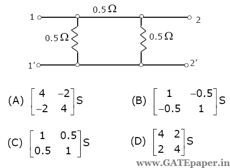 gate 2019 previous solutions video lectures for free two port rh gatepaper in