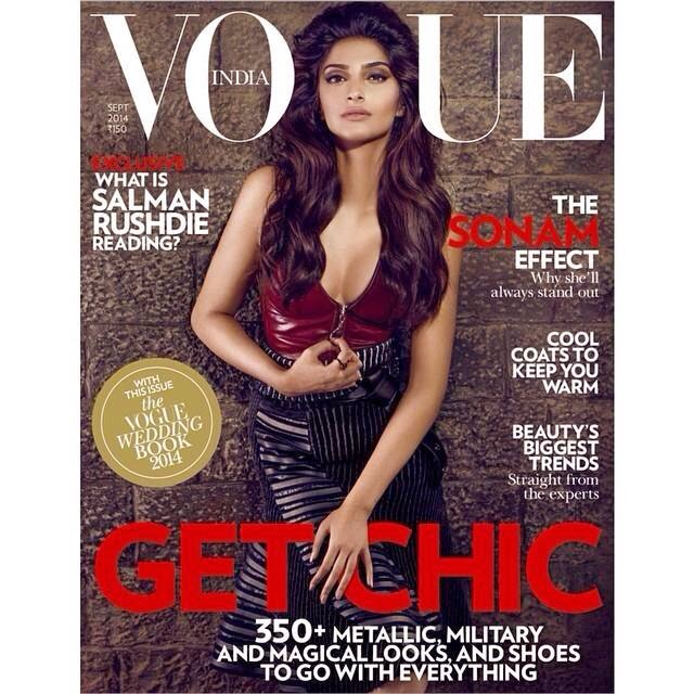 Hot Sonam Kapoor on the cover of Vogue India September issue