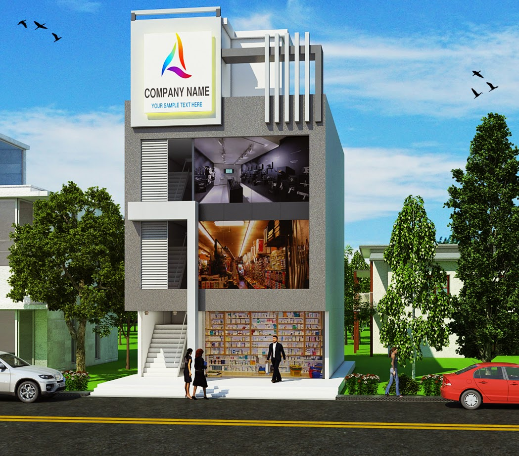 Resurrectiion Multimedia Elevation Of Commercial Building