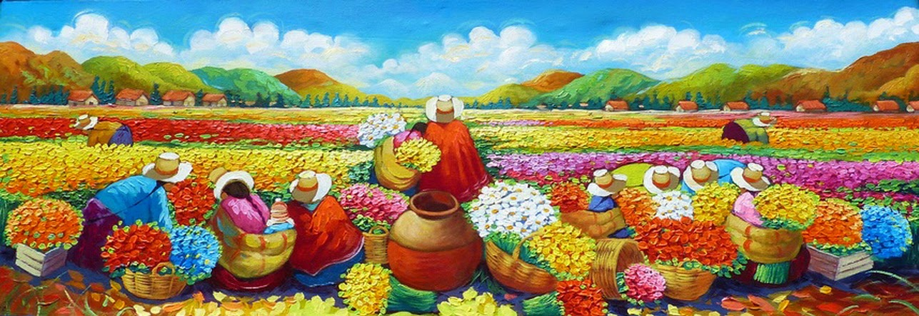 cuadros-pintura-espatula-decorativa-indigena-peruana