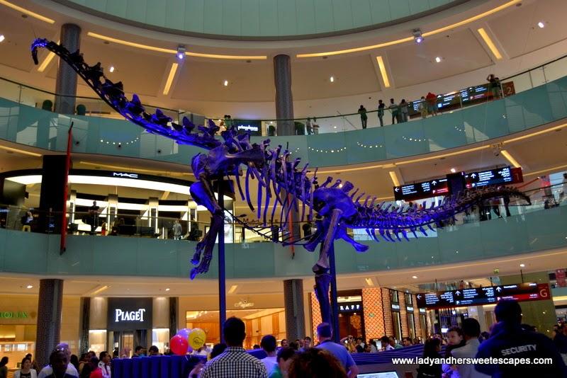 Dinosaur at The Dubai Mall