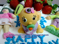 Fresh cream strawberry cake-Family themed