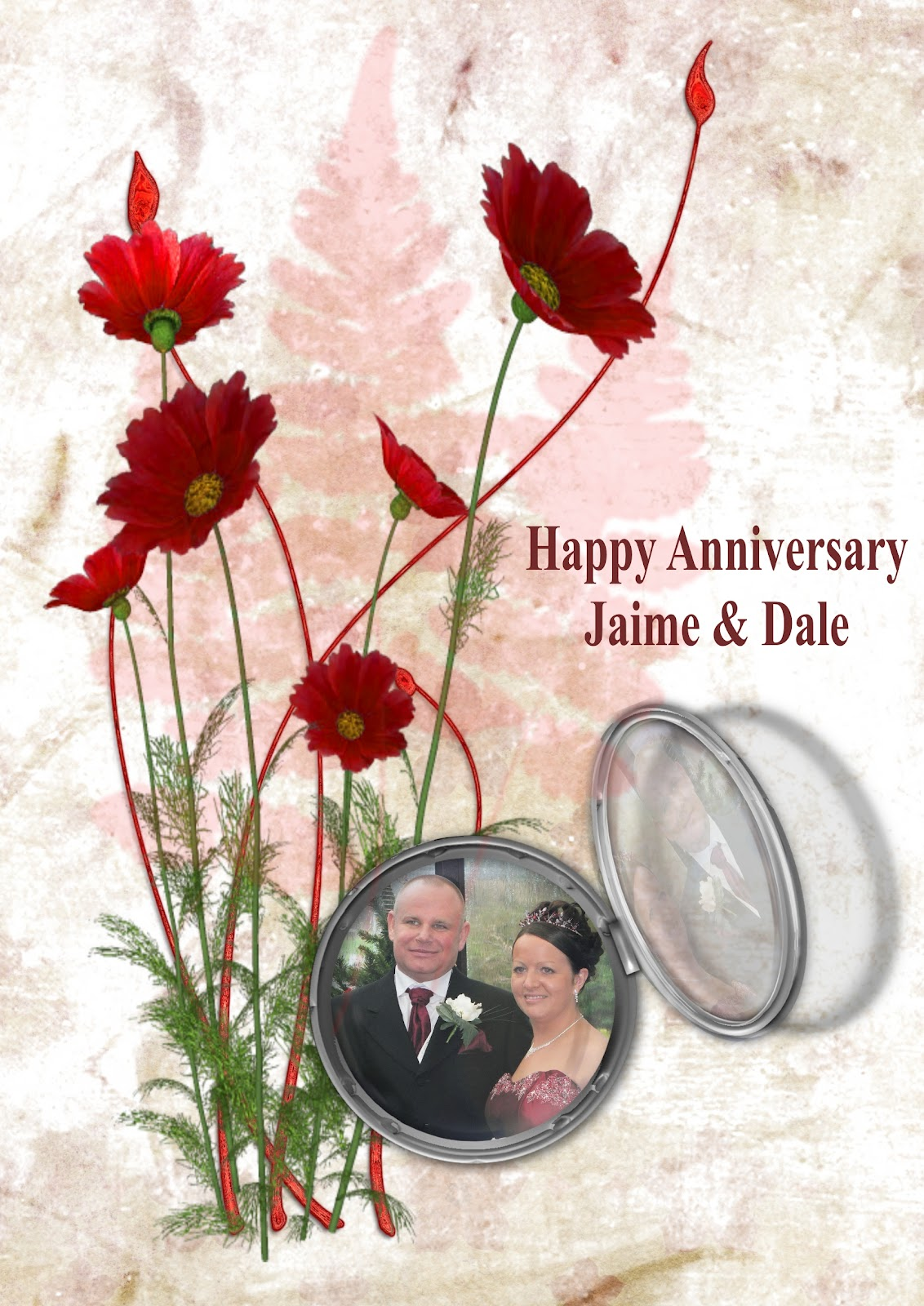 Wedding Anniversary Gift For Daughter : suegp.blog: Anniversary Card for my Daughter & Son in law