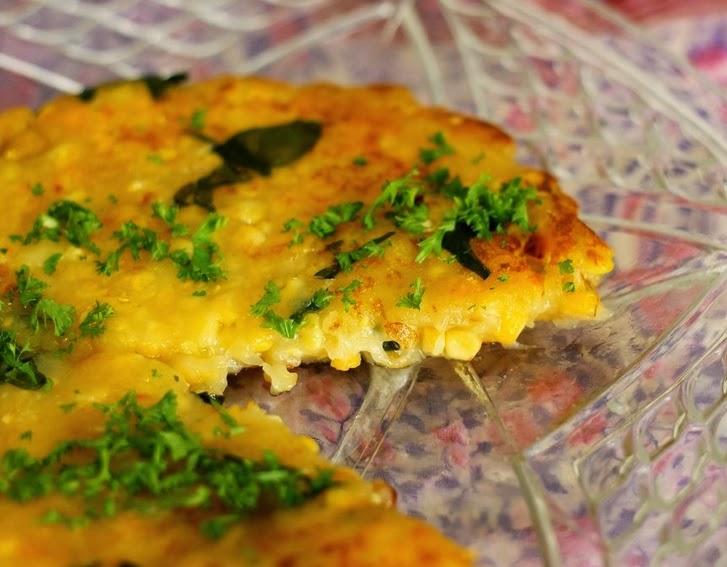 """""""Omelete"""" de Mandiokejo com Milho (vegana)"""