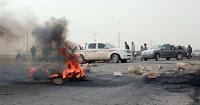 بلطجية أنصار مرسى يقطعون طريق الخصوص لمنع المواطنين من الانتخاب