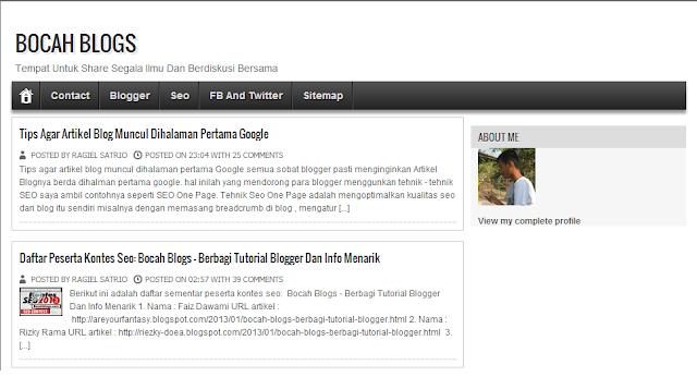 Bocah Blogs - Berbagi Tutorial Blogger Dan Info Menarik