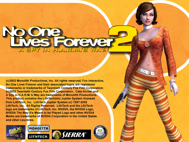 no one lives forever 2 title screen