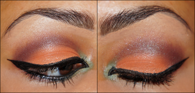 Eartnicity Mineral Eyeshadow Arabic Liner Makeup on hooded eyes