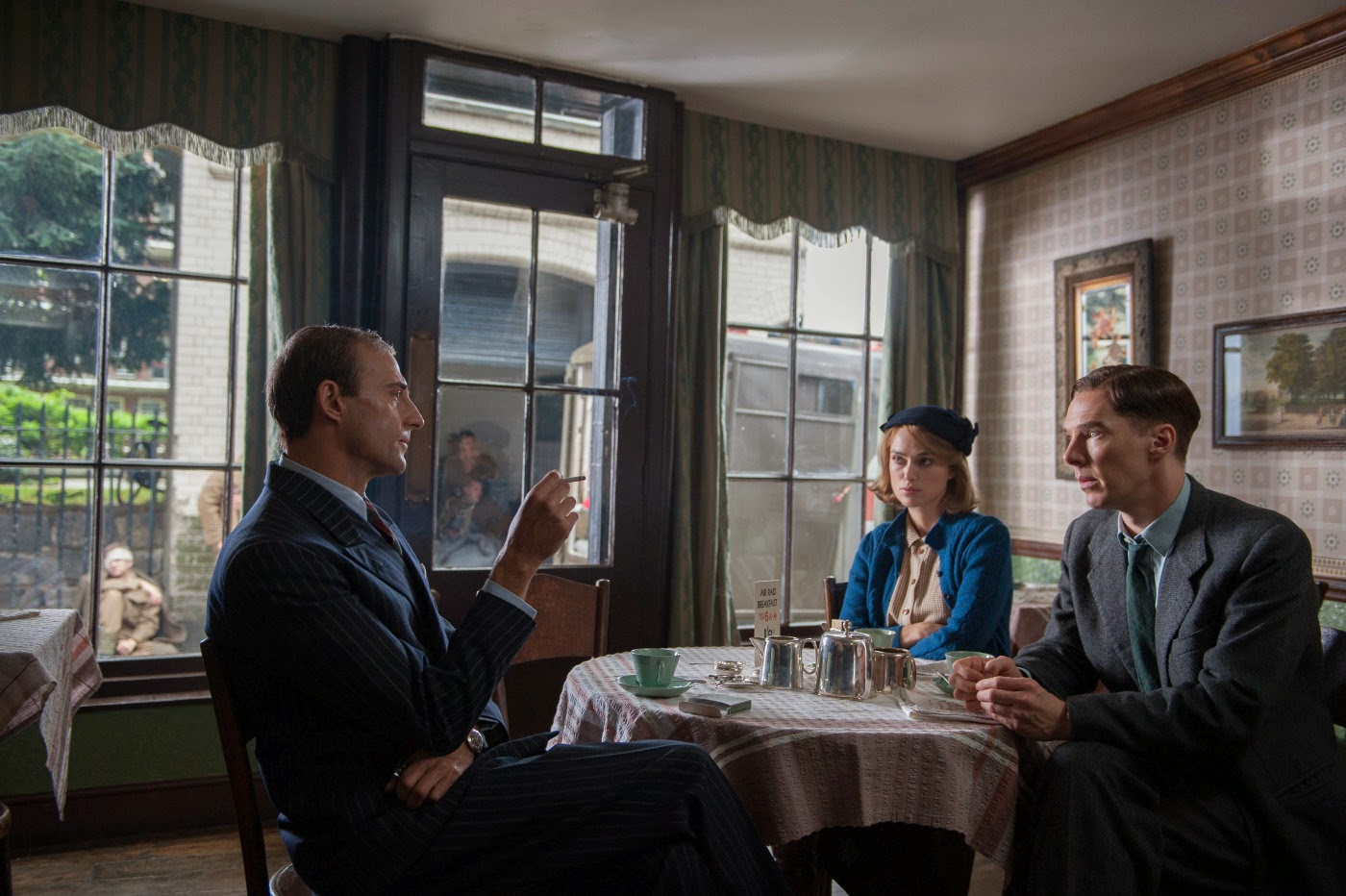 Mark Strong, Keira Knightley, and Benedict Cumberbatch in The Imitation Game