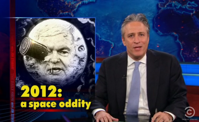 Jon Stewart discusses Newt Gingrich