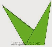 Bước 17: Hoàn thành cách xếp cành hoa bằng giấy origami