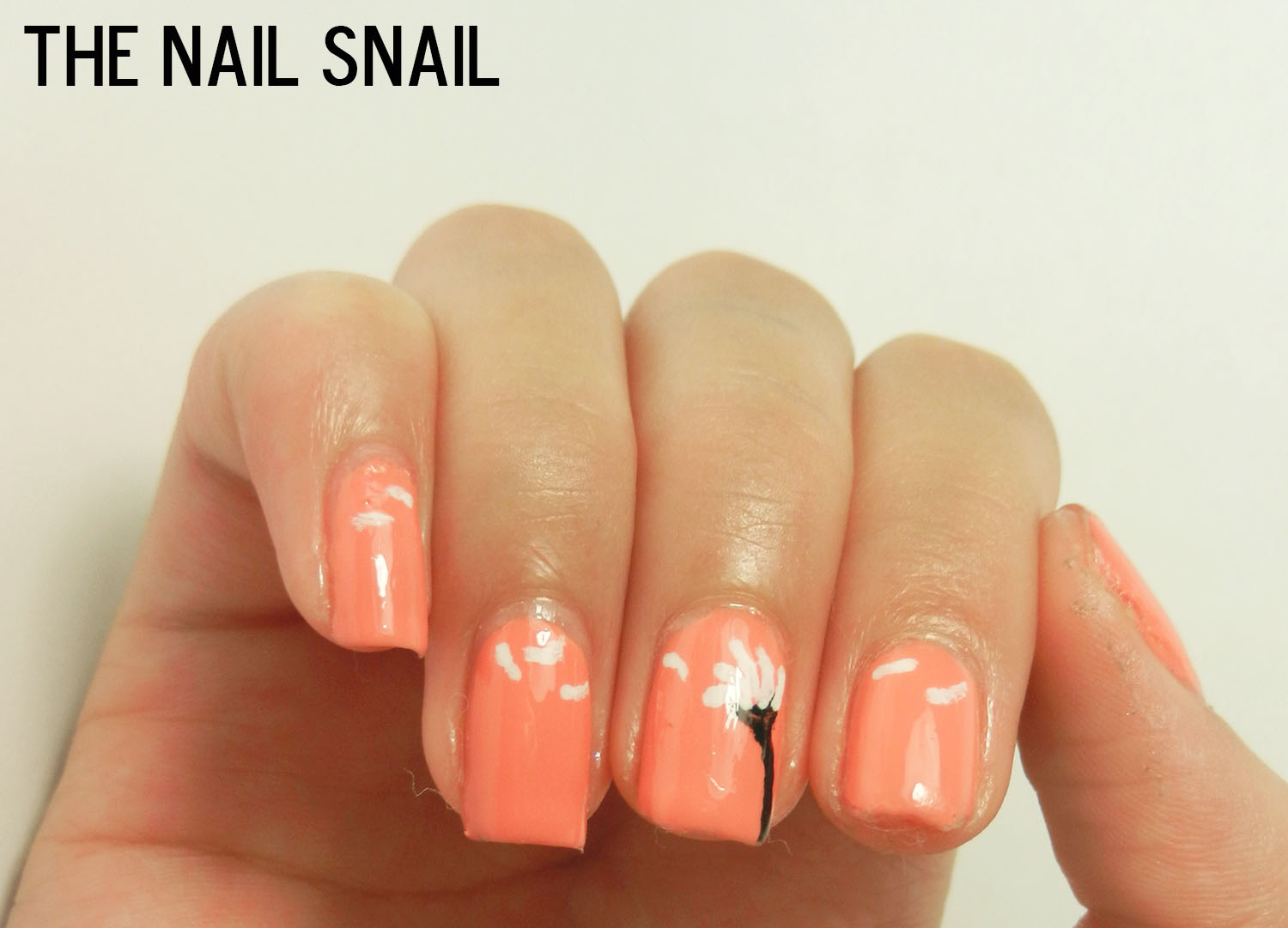 The Nail Snail: Dandelion Nail Art and Jin Soon Tea Rose