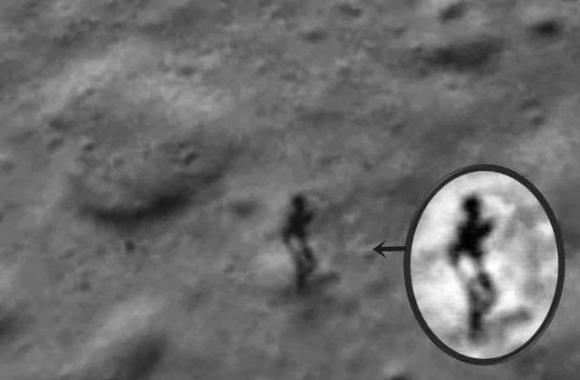 Odd Humanoid Figure Spotted on the Moon