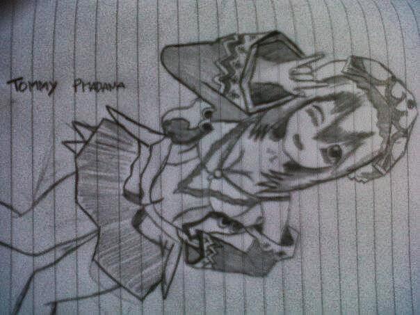 Gambar Lukisan Pensil Anime Tommy Pradana